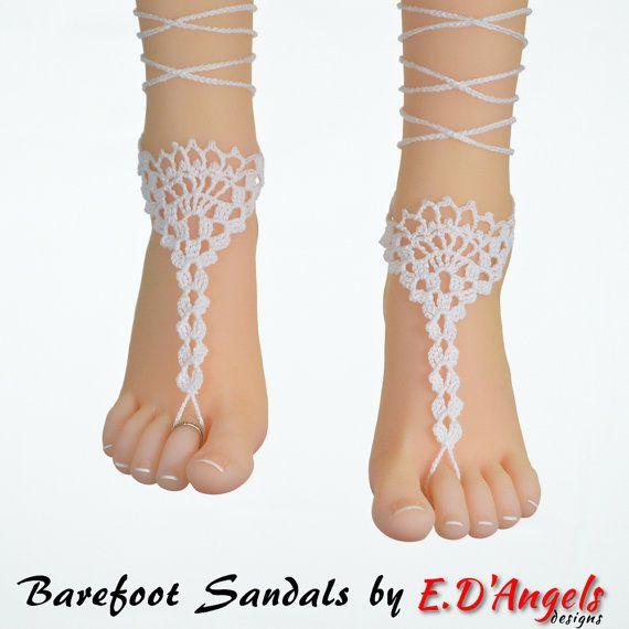 Sandali a piedi nudi all'uncinetto modello di LassCrochet