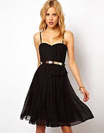 Mango Chiffon Drape Bustier Mini Party Dress Size M Uk-10 Black Rrp £69