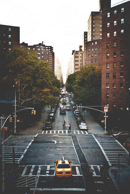 New York street by Sophia van den Hoek