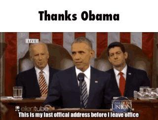 Thanks Obama GIF