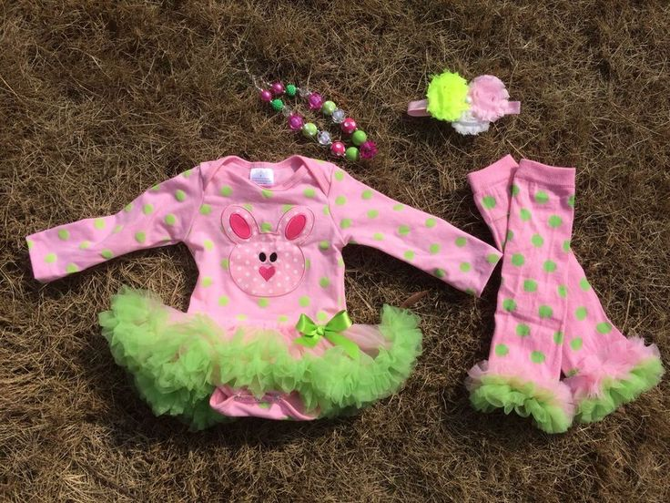 Our pre order infant easter sets come with the appliquéd onesie, a hair accessory, and a chunky necklace.  If you wish to purchase the items separately, please contact us for a custom listing.