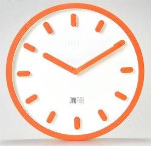 #Clock #JVD Plastikowy zegar ścienny H81.2 - Jasněna Vláhová Design - pomarańczowy