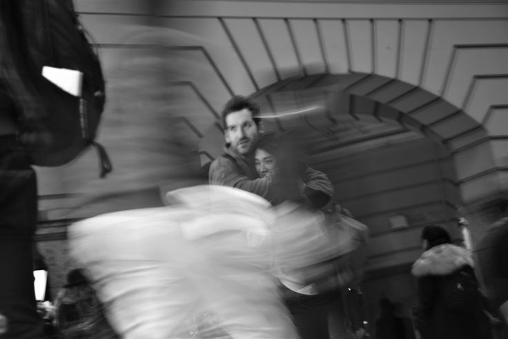 originally this photo was in colour and the blurred movement was a fluroecent ugly yellow because a person wearing a fluro jacket walked by the frame.  I was still keen to try something with this image as the focal point is still on what i wanted, in fact its the only sharp point throughout the whole image.   changing it to black and white has only emphasised this, and therefore i think this image will make my final