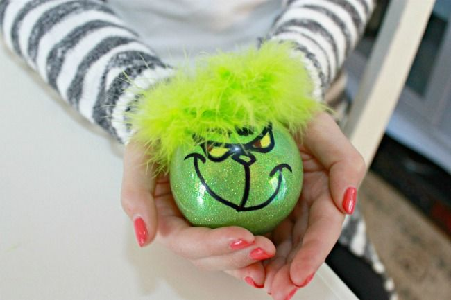 Painted Grinch Ornament - Day 11 of 12 Days of Christmas Ornaments