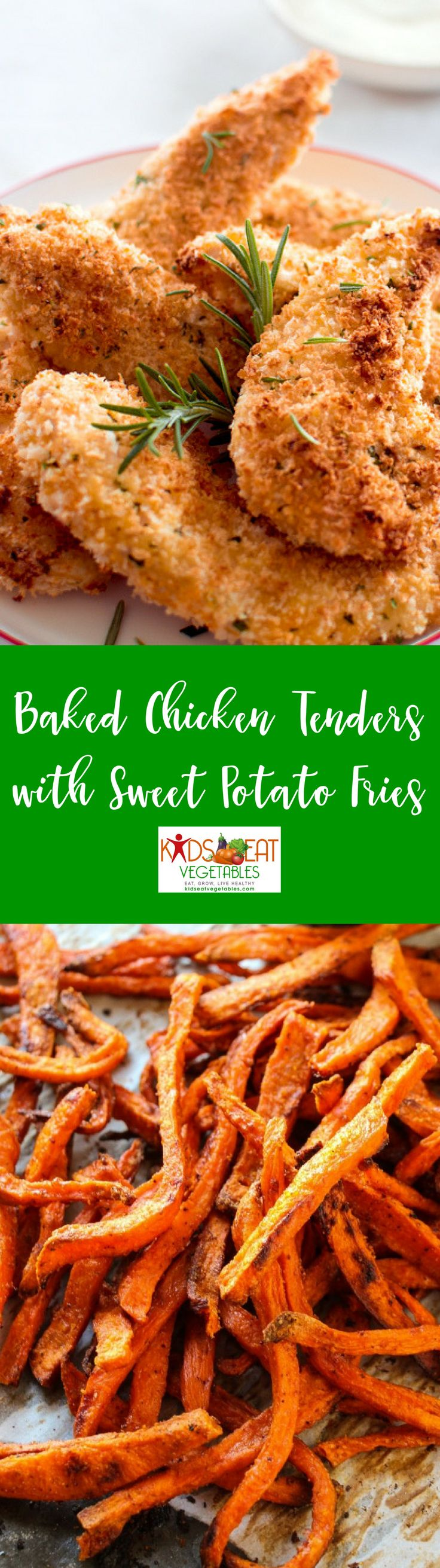 Give common favorites a healthy twist. Baked chicken tenders and sweet potato fries are a perfect meal example. Baking instead of frying greatly reduces the amount of fat but yields those signature tastes and textures children love while swapping white po