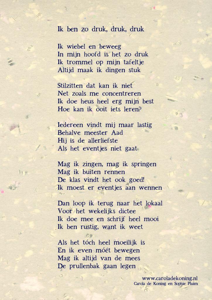 Een gedicht voor alle hyperactieve kinderen!
