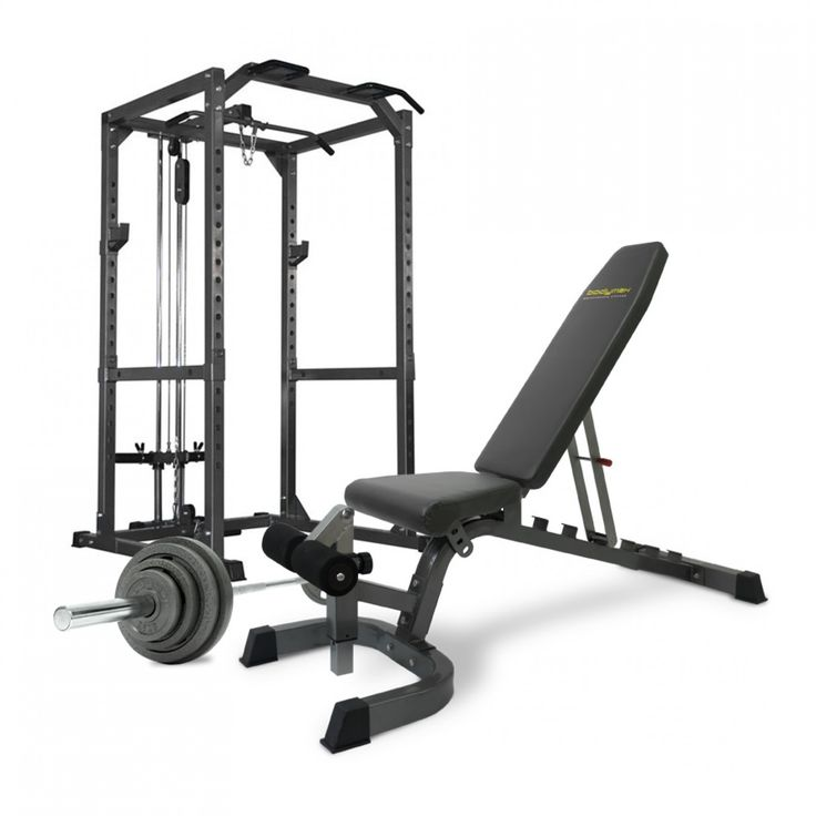 Bodymax CF475 Premium Strength Package (Bench, Barbell, Weights & Rack)…