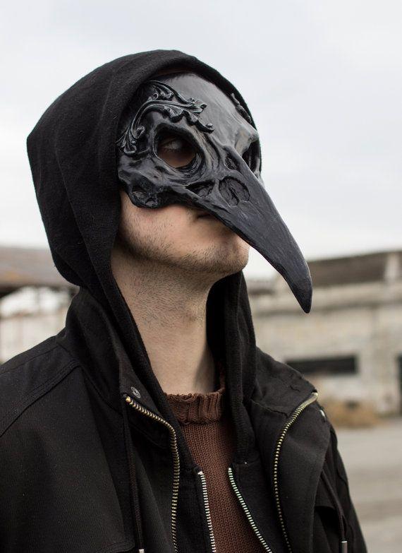 Raven Skull Mask by SanseverinoFrancesco on Etsy
