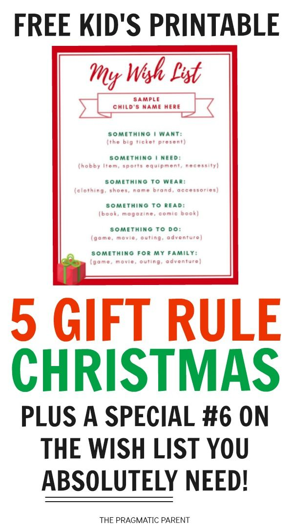 5 Gift Rule Christmas Plus A Family Tradition To Add To The Wish List Kids Christmas List Christmas Gifts For Kids Christmas Traditions Family