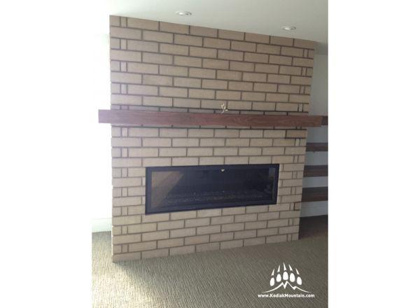 General Shale Brick fireplace: Coliseum -- for Van Arbor Homes, Lethbridge AB -- www.meerkerkstonework.ca