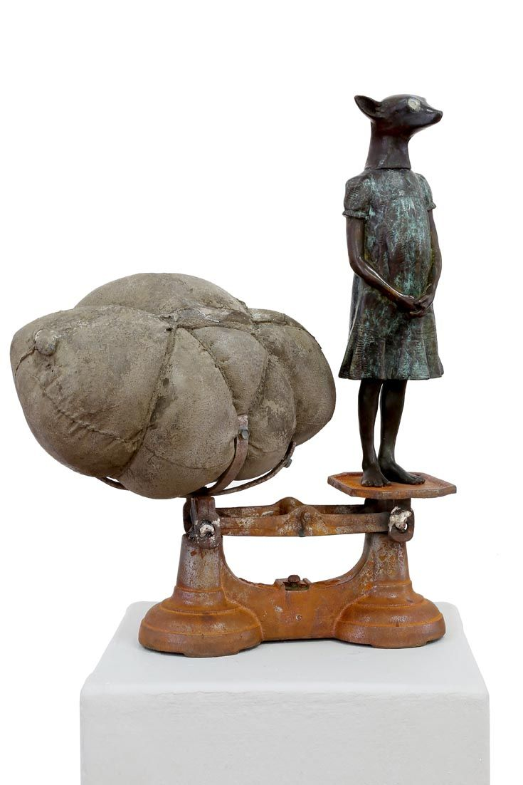 An original sculpture by Elizabeth Balcomb entitled: Therianthrope, bronze ed of 15, 46cm x 35cm  #sculpture #bronze #ElizabethBalcomb #SouthAfricanArtist #SouthAfricanArt #Therianthrope For more please visit www.finearts.co.za