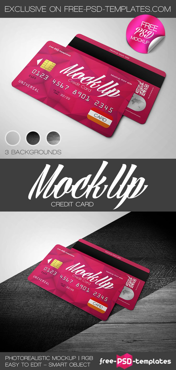 Free Credit Card Mockup In Psd  Free Psd Templates