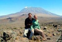 Day 342: There's still a long way to go, Kilimanjaro summit from the Saddle, Kilimanjaro National Park (Tanzania)