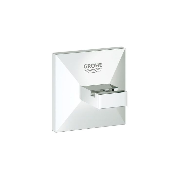 Grohe 40 498 Allure Brilliant Brass Robe Hook Starlight Chrome Accessory Robe Hook Single