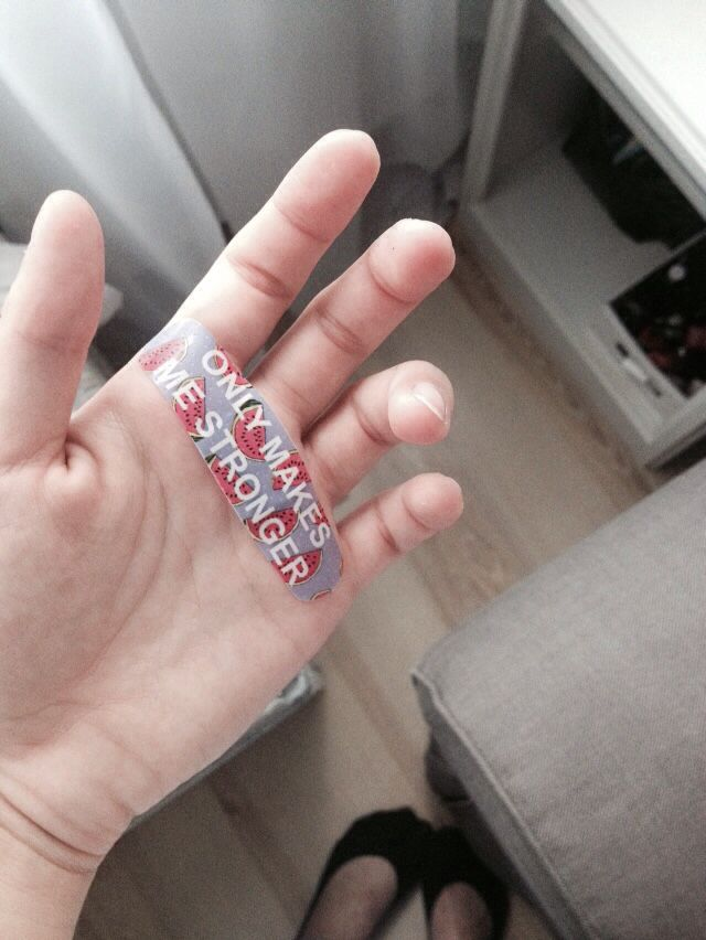 Tuusula, Finland Cute bandage from the set that I bought in Finland :)