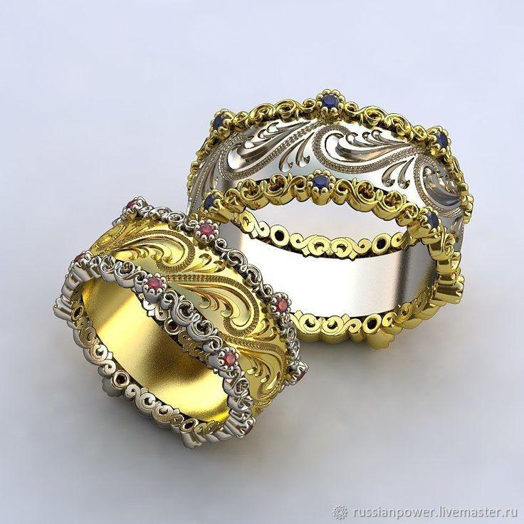 Wedding rings | Купить обручальные кольца Королевские - комбинированный, свадебное украшение, свадебные украшения, свадебный аксессуар
