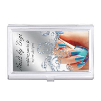 Nail Salon Cosmetologist Cosmetology Polish Business Card Case