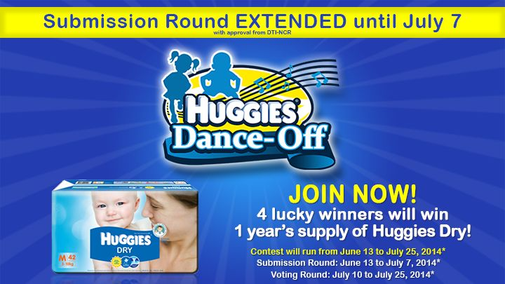 Can your baby dance? Enter your little one into the Huggies Dance-Off contest and stand a chance to win 1 year supply of Huggies Dry!