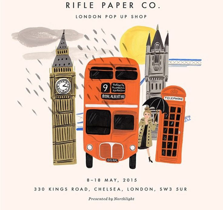 Northlight presents Rifle Paper Co.  London Pop Up Shop  8-18th May 2015 330 Kings Road, London, SW3 5UR