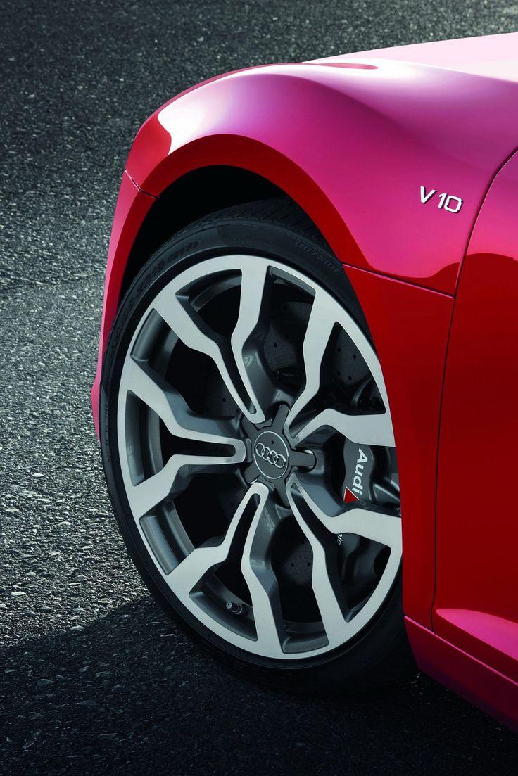 ♂ red car Audi wheel details #vehicle