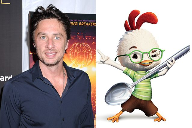 images of disney's chicken little voice of zach braff | 27 Stars You Didn't Know Voiced Popular Cartoon Characters