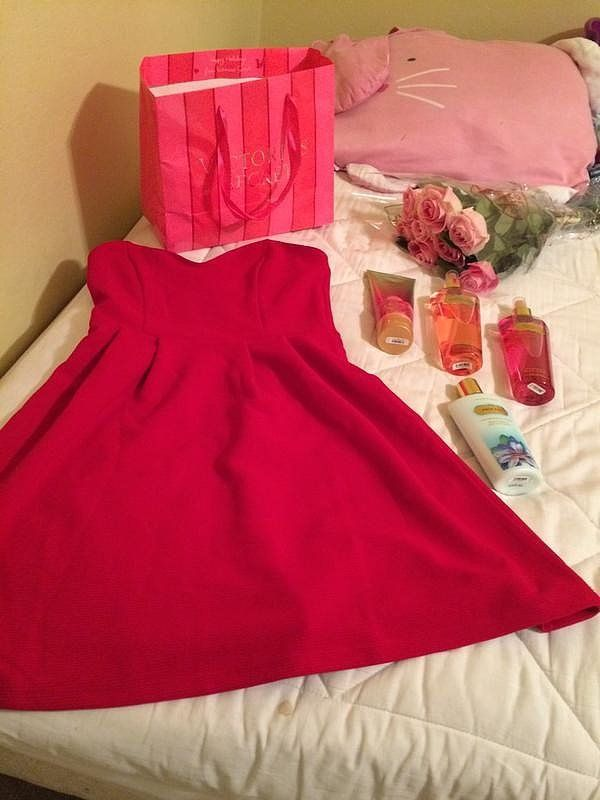 Surprising her with everything she needs for date night.