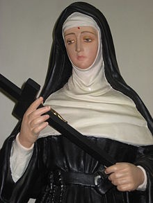 St. Rita of Cascia---my saint name i picked :)   Awesome, awesome lady...I can only dream to have faith like she did!!