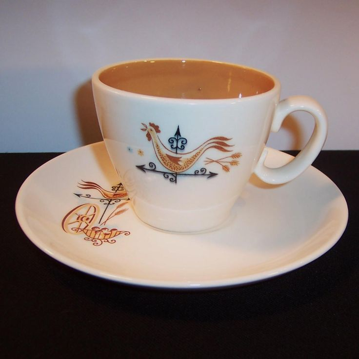 Taylor Smith Weather Vane & Rooster Cup & Saucer Set from ...