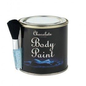 Chocolate Body Paint Tin and Brush - Strawberry Blushes