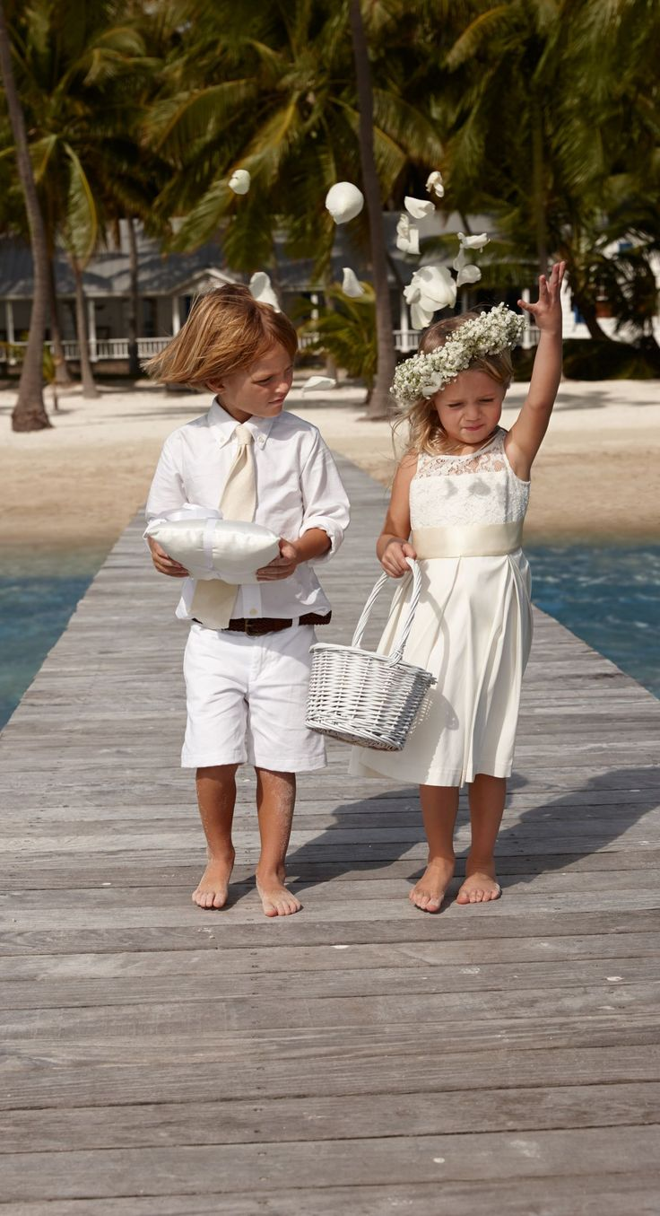 Lauren Ralph Lauren Wedding: All-white everything for your ring bearer and flower girl. #FathersDay