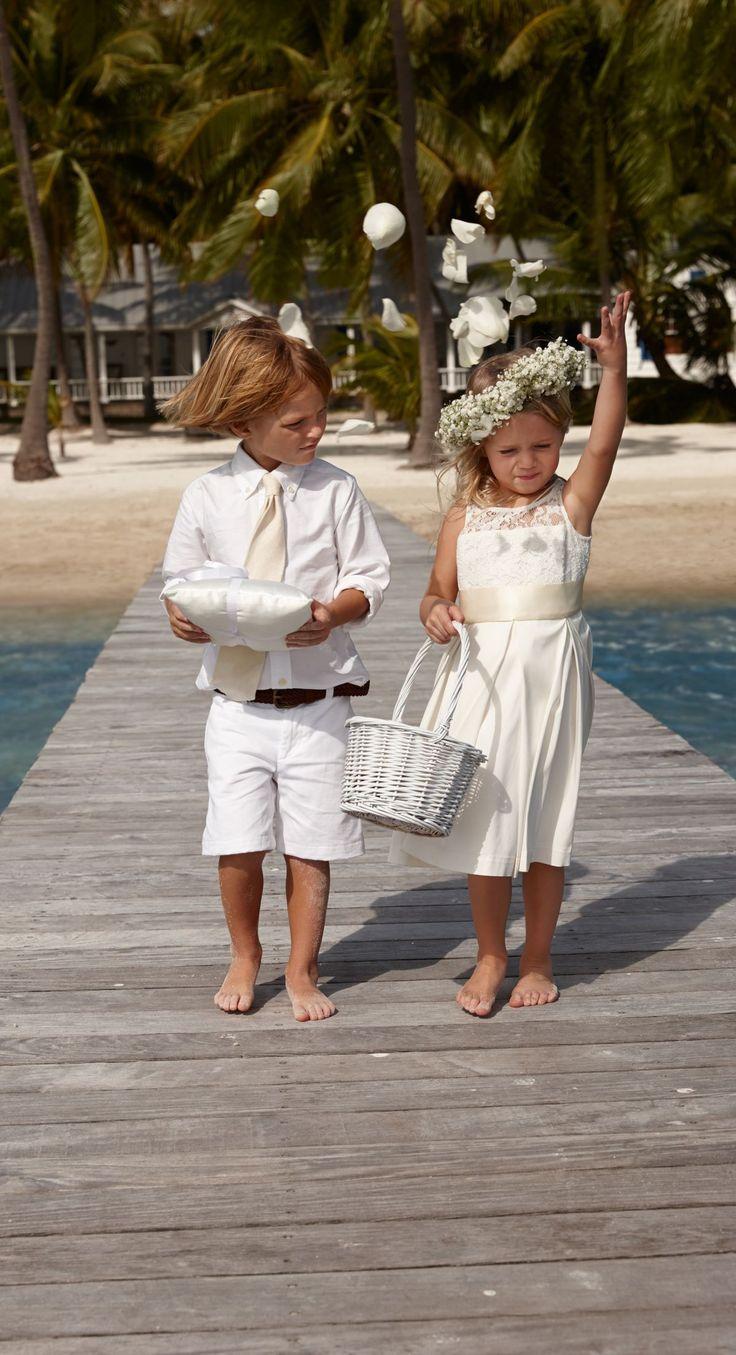 Lauren Ralph Lauren Wedding All-white everything for your ring bearer and flower girl. # ...