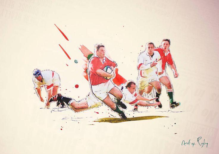 Heartbreaker : Wales Rugby Print