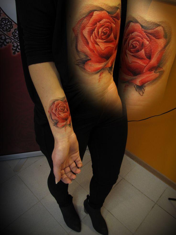 #tattoo #ink #inked #tattooartist #rose #color #studio #studiobardo #bardo