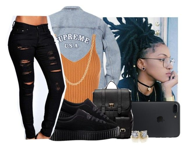 """"""""""" by eazybreezy305 ❤ liked on Polyvore featuring Mark Davis, Sole Society, Puma, Boohoo, cute, SimpleOutfits and Fall2016"""