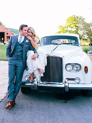 '63 White Bentley!  Scott Porter Marries Kelsey Mayfield| Weddings, Friday Night Lights, Hart of Dixie, Scott Porter - c/o @Camp Lucy  & @Pearl Events
