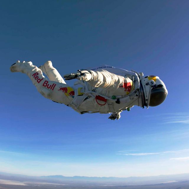 World record freefall from the edge of space.