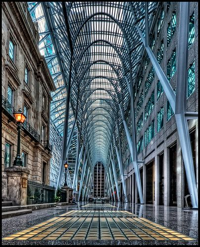 Toronto Architecture - This Photo was taken by Pedro Szekely © at Eaton Centre, Toronto, Ontario, Canada. | #Photography #Architecture #Toronto #Places |