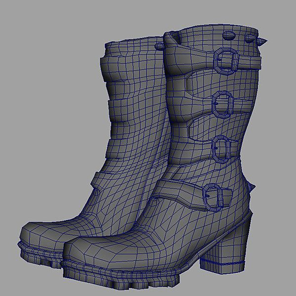 Maya Model: Buckle Boots/Wire