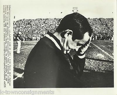 RICK FORZANO NAVY COACH ARMY VS NAVY VINTAGE NCAA FOOTBALL PRESS PHOTO