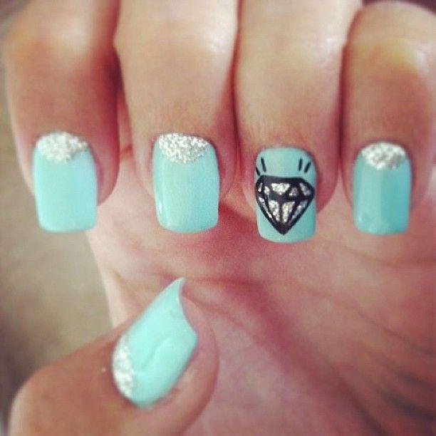 16 best Aqua nails images on Pinterest   Aqua nails, Belle nails and ...