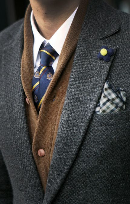 : Lapel Pin, Winter Layered, Flower Pin, Menwear, Men Style, Men Fashion, Men'S Fashion, Pockets Squares, Men Wear