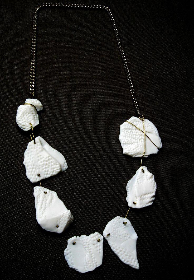yiota vogli 'Structures' porcelain necklace, chain www.yiotavogli.com: