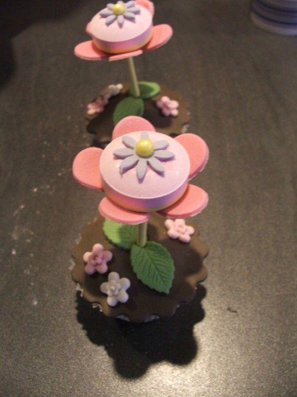Cupcake met bloemetje