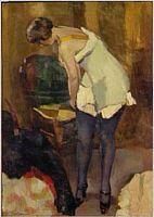 Woman With Blue Stockings, 1917; (Musée National d'Art Moderne) - Henry Ottmann ______________________________ ♥♥♥ deniseweb.free.fr ♥♥♥