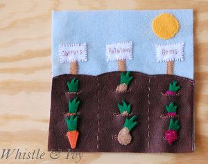 Vegetable Garden Quiet Book | AllFreeSewing.com