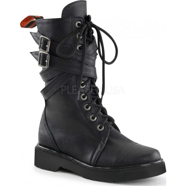 Demonia Shoes - RIVAL-307 Black