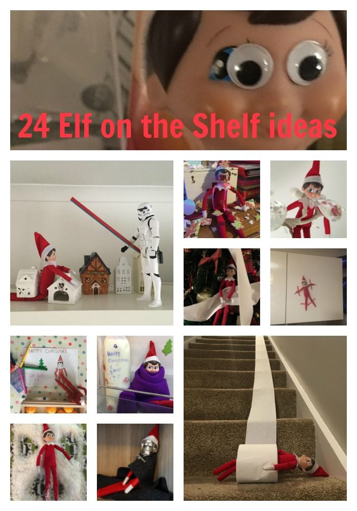 24 elf on the shelf ideas that work - tried and tested by the gingerbread house! #elfontheshelf #elfontheshelfideas