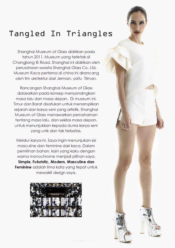 'Tangled in Triangles' by Melody Utomo Putri  For LPTB Susan Budihardjo Graduation Show 2014 in jakarta - Ubiquitous Mod
