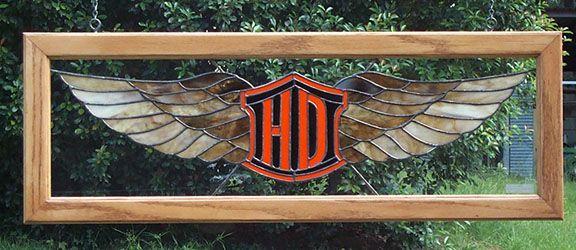 Harley Wings Stained Glass Panel #OrlandHarley #Harley #Orlando Harley-Davidson®