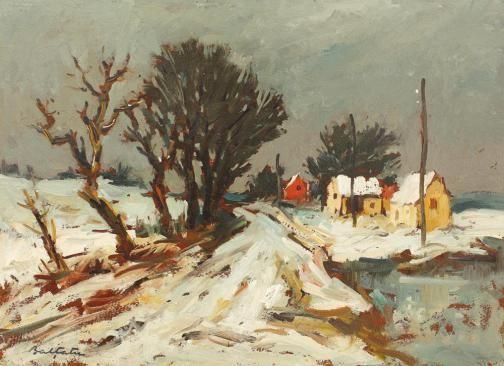 Adam Bălțatu - Peisaj de iarnă
